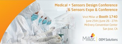 Visit Millar OEM at Medical + Sensors Design Conference and Sensors Expo to learn about pressure sensor integration.