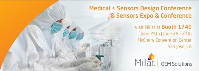 Visit Millar OEM at Medical + Sensors Design Conference and Sensors Expo to learn about pressure sensor integration.