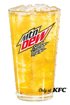 Mountain Dew® and KFC® are partnering to electrify their beverage lineup with Sweet Lightning® - an out-of-this-sky refreshment lit up with a punch of peach and a touch of honey flavors.