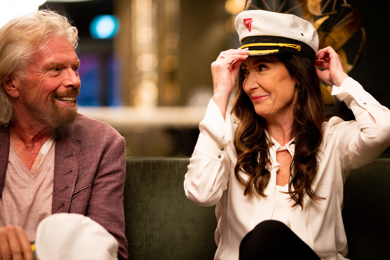 Sir Richard Branson and Captain Wendy Williams, who will lead the first Virgin Voyages ship. (CNW Group/Virgin Voyages)