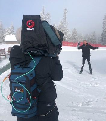 LiveU in action - used by TVNZ for a series for their breakfast show where they flew non-stop around the world in a week