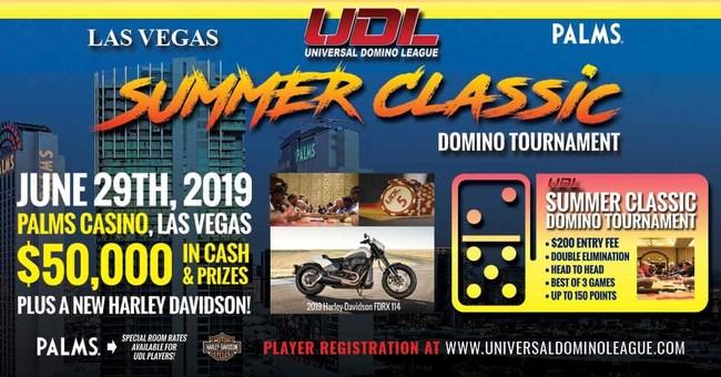 Domino League Summer Tournament Flyer