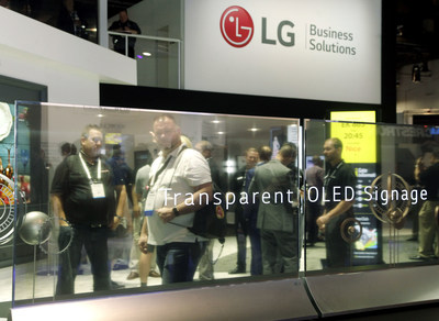 LG Launches Transparent OLED Commercial Display In U S