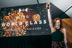 Katie Renshaw named 2019 U.S. Bartender of the Year at the USBG World Class Finals sponsored by Diageo. (Photo Credit: Shannon Sturgis)