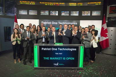 Patriot One Technologies Inc. Opens the Market (CNW Group/TMX Group Limited)