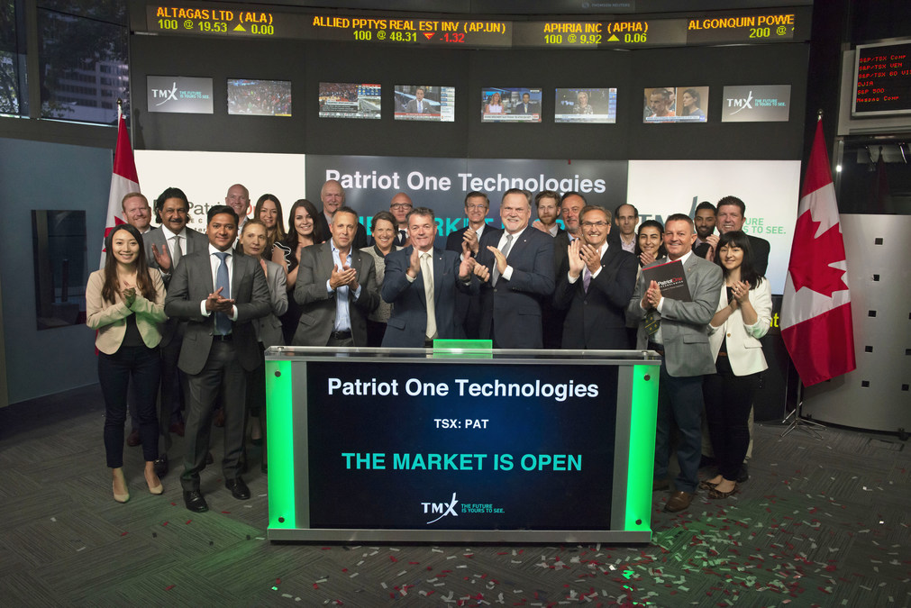 Patriot One Technologies Inc  Opens the Market
