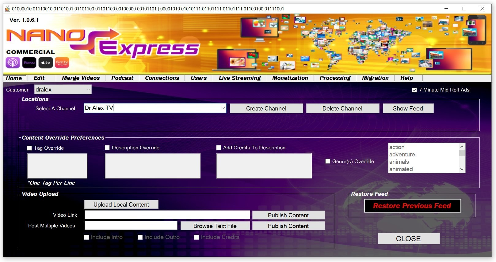 New Nano Express Software Puts Creating TV Channels into