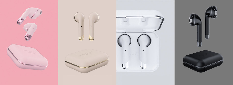 Air 1 True Wireless Headphones by Happy Plugs, a global market leader in fashion tech creating consumer electronics accessories.