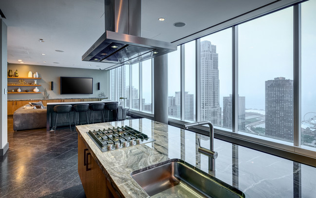 Upscale living highlights North Water Apartment's market rate apartments featuring renters' most sought-after amenities.