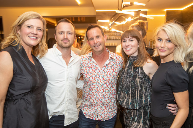 Aaron Paul and Julianne Hough with ANI Private Resorts CEO Ira Bloom and others at ÀNI's chef tasting event in LA on Saturday June 8th.