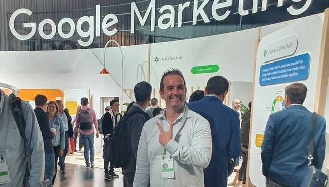 Colling Media CEO Brian Colling attends Google Marketing Live 2019 Conference