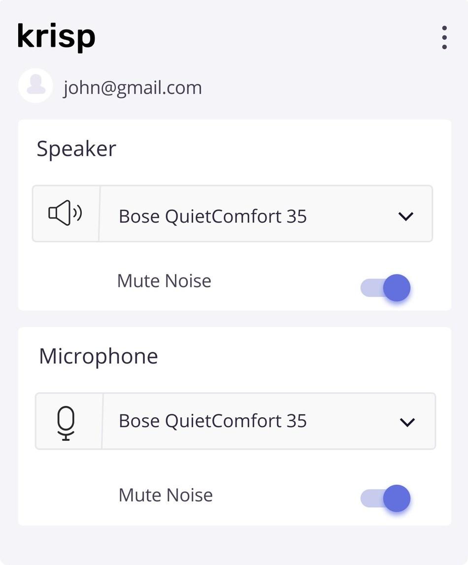 Krisp noise canceling app