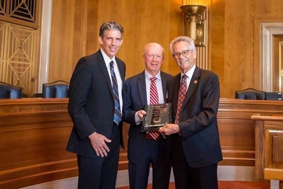 From left to right: Brian D'Andrea, Senior VP of Housing for Century; Ron Griffith, President and CEO of Century; Congressman Alan Lowenthal, CA-47