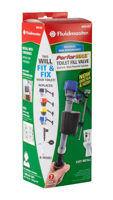 Fluidmaster, the #1 toilet repair brand worldwide, introduces its PerforMAX® Flush Valve Repair Kit. Fluidmaster offers the ultimate solutions for fixing toilet leaks, repairing a running toilet and damaged flush valve.