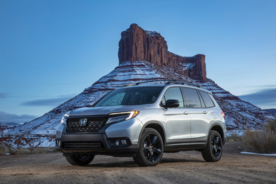 2019 Honda Passport Achieves Top NHTSA Overall Safety Rating (PRNewsFoto/American Honda Motor Co., Inc.)