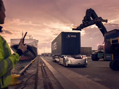 Vera's First Assignment: Volvo Trucks Presents an Autonomous Transport Between a Logistics Centre and Port