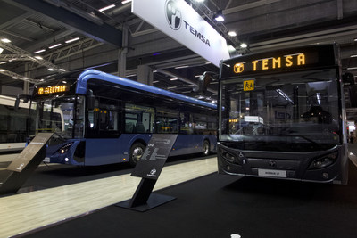 TEMSA exhibited three vehicles including two electric versions at the UITP summit in Stockholm
