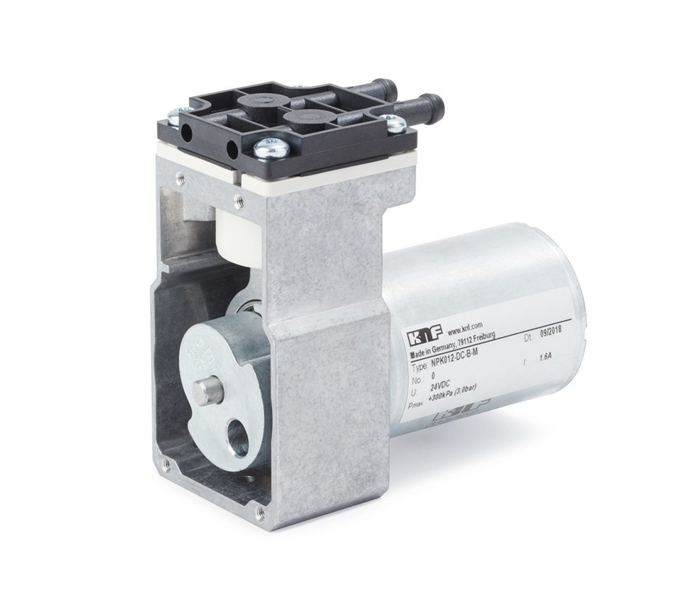 KNF's NPK 012 offers a compact, high performance, and economical oil-free swing-piston pump