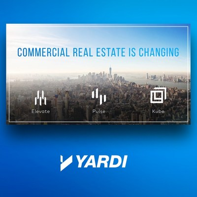 Yardi is showcasing new innovation for asset management, energy management and coworking at 2019 Realcomm  |  IBcon Conferences. (PRNewsfoto/Yardi)