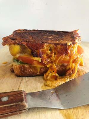 Chef Melissa King's Grilled Double Real California Cheddar Cheese Sandwich takes something as simple as grilled cheese and perfects it with fresh ingredients.