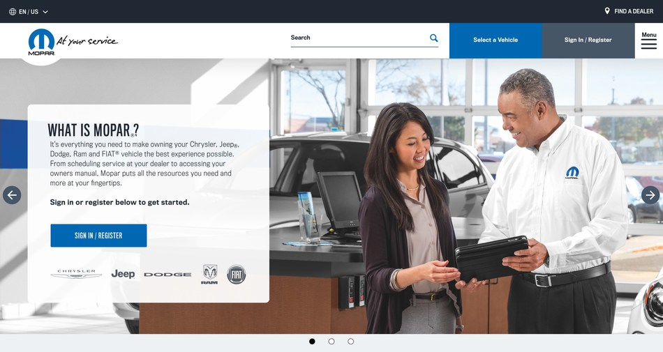 Mopar has launched a redesigned version of the brand's official online headquarters, Mopar.com, featuring an owner-focused experience that places most vehicle information and customer-care resources just a click away.