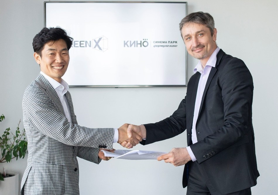 (Left) JongRyul Kim, CEO of CJ 4DPLEX /(Right) Alexey Vasyasin, CEO of United Cinema Chain 'KinoOkko' (Formula Kino and Cinema Park)