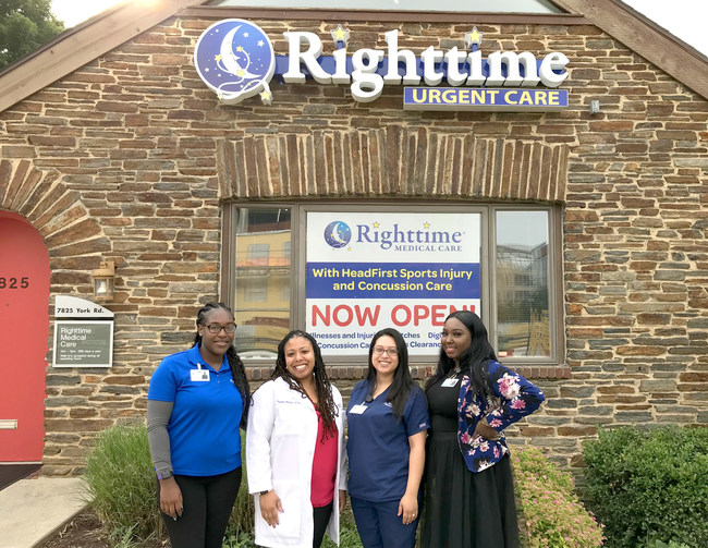 Maryland-based urgent care company Righttime Medical Care has opened its 19th Care Center, located at 4825 York Road in Towson, Maryland. Conveniently located directly across from Towson University, Righttime is open 365 days a year and welcomes walk-in patients while also offering RighttimeNOW™ virtual visits as well as same-day appointments. For more information, visit myRighttime.com.