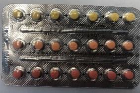 Plaquette alvéolée de Linessa 21 (les 21 comprimés contiennent des hormones) (Groupe CNW/Santé Canada)