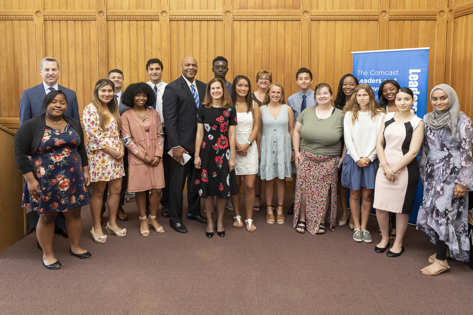 Comcast Leaders and Achievers Scholarships were awarded to 17 Connecticut high-school seniors.