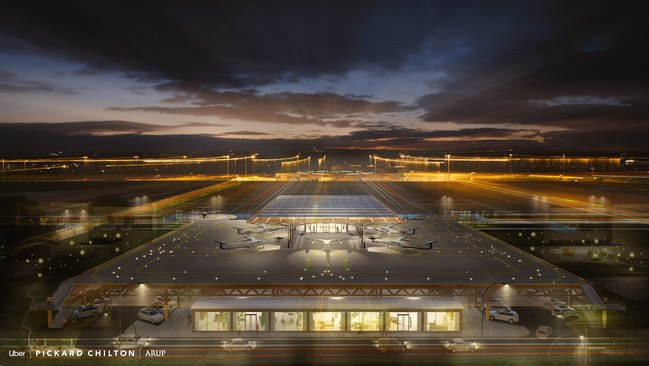 Pickard Chilton and Arup's New Uber Air Skyport Concept for Melbourne