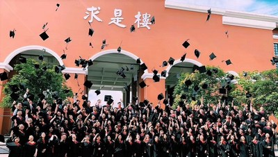On June 8, in Zhuhai, China, Bryant University President Ro<em></em>nald K. Machtley awarded Bryant Zhuhai's historic first graduating class of 130 students with a Bryant Bachelor of Science in Business degree with a major in Accounting. Dr. Hao Ping, president of Peking University, one of the oldest and most im<em></em>portant universities in the country, received an ho<em></em>norary Bryant degree.