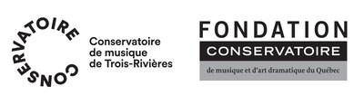 Logos du Conservatoire de musique de Trois-Rivières et de la Fondation du Conservatoire de musique et d'art dramatique du Québec (Groupe CNW/Conservatoire de musique et d'art dramatique du Québec)