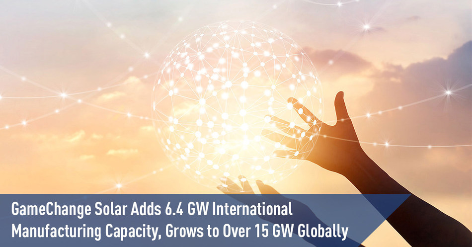 GameChange Solar Adds 6.4 GW International Manufacturing Capacity, Grows to Over 15 GW Globally