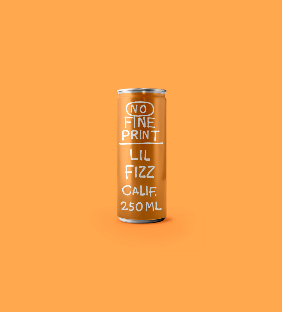 No Fine Print Wine Co. Launches Canned White Wine, Lil Fizz.