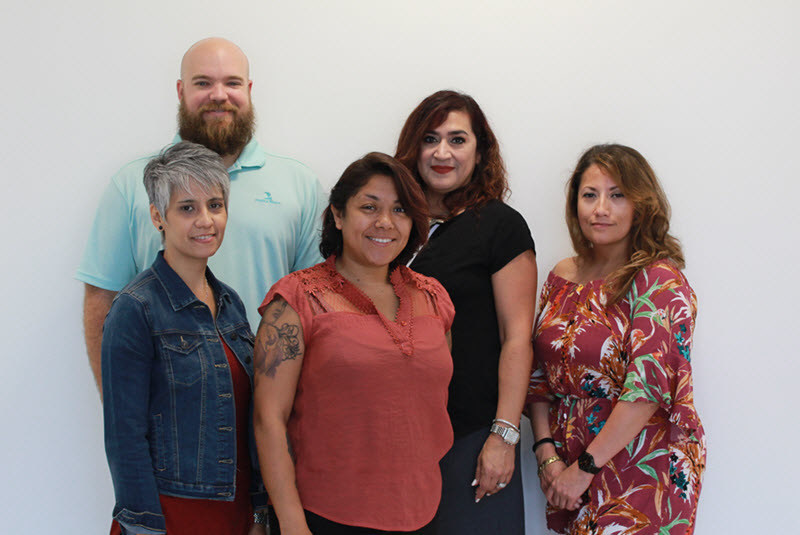(L to R): Jon Gordon, Margie Reyes, Dolores Alva, Janie Alonzo and Diana Adame attended Training for new agencies this week at Brightway's Home Office in Jacksonville, Fla.