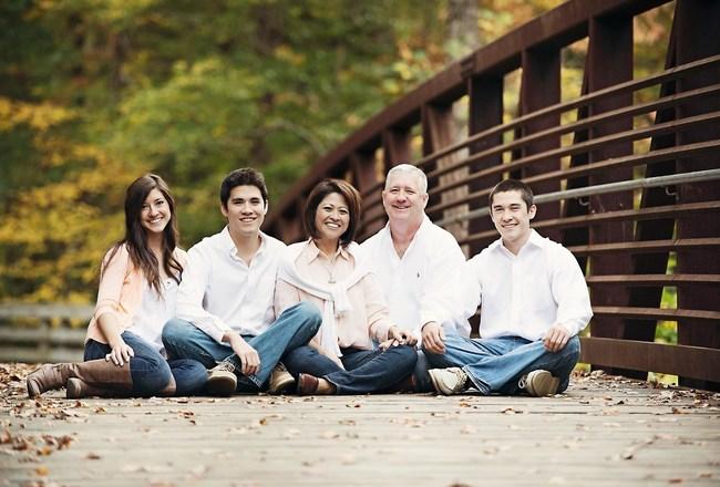 The Reid Family (l to r): Chloe, Justin, Susan, Keith, and Robert Reid
