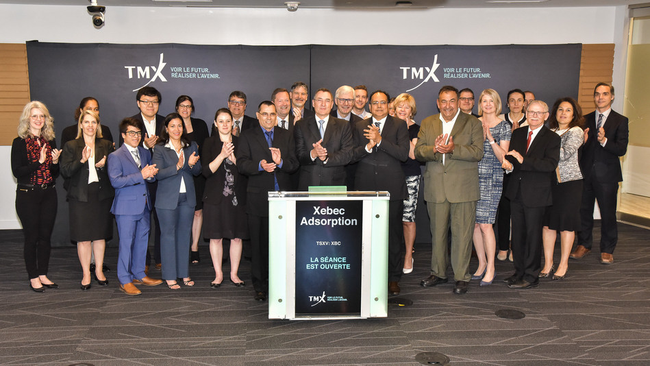 Xebec Adsorption Inc. Opens the Market (CNW Group/TMX Group Limited)