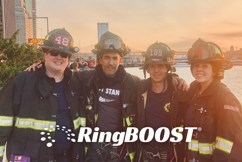 RingBoost President Paul Faust (second from left) at the 2018 Tunnel to Tower NYC 5k Event. RingBoost will be donating 5% of this month's profits to the Stephen Siller Foundation.