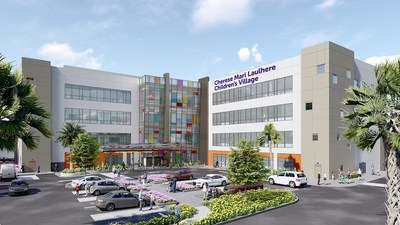 When complete in 2021, the Cherese Mari Laulhere Children's Village will be an 80,000 sq. ft., four-story building on the MemorialCare Miller Children's & Women's Hospital Long Beach campus that provides a one-stop-shop approach to pediatric specialty care in an outpatient setting.
