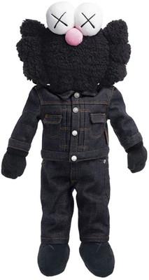 Kaws, BFF Plus Dior Doll (Black), polyester plush doll in plexiglass case, 2019, estimate: $15,000 - $20,000