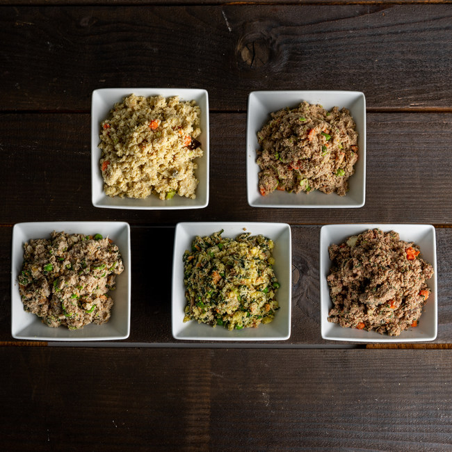 Chi Dog offers 5 element-based TCVM food therapy meals.