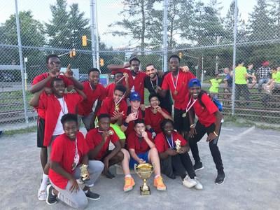 Boys and Girls Club Baseball Winning Team 2018 Lixar Lightening (CNW Group/Lixar IT)