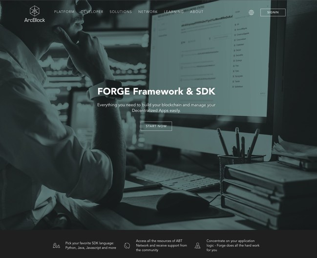 Forge Blockchain Application Framework - the easiest way to build, deploy and manage DApps.