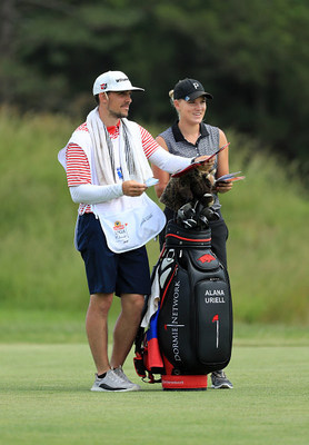 Alana Uriell with her caddie.