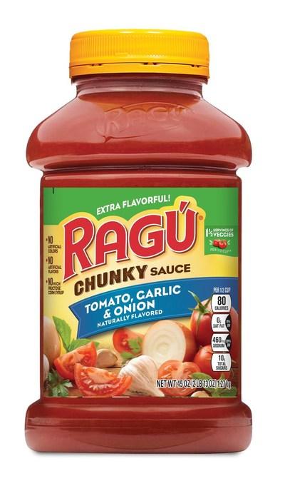 RAGU Chunky Tomato, Garlic & Onion 45oz Jar