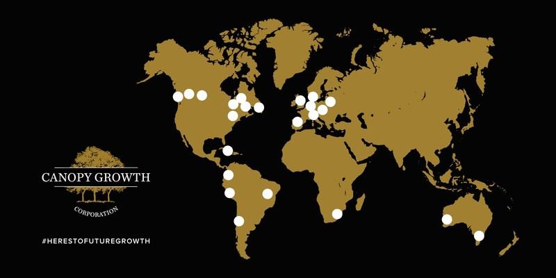 Spectrum Therapeutics a obtenu de nouvelles licences, certifications et occasions de vente au sein d'administrations étrangères qui permettront d'améliorer la position de chef de file de Canopy Growth sur la scène internationale et d'accroître ses revenus. (Groupe CNW/Canopy Growth Corporation)