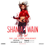 """Global Icon Shania Twain Announces Headlining Las Vegas Residency - Shania Twain """"Let's Go!"""" The Las Vegas Residency Launches Friday, December 6 At Zappos Theater At Planet Hollywood Resort & Casino"""
