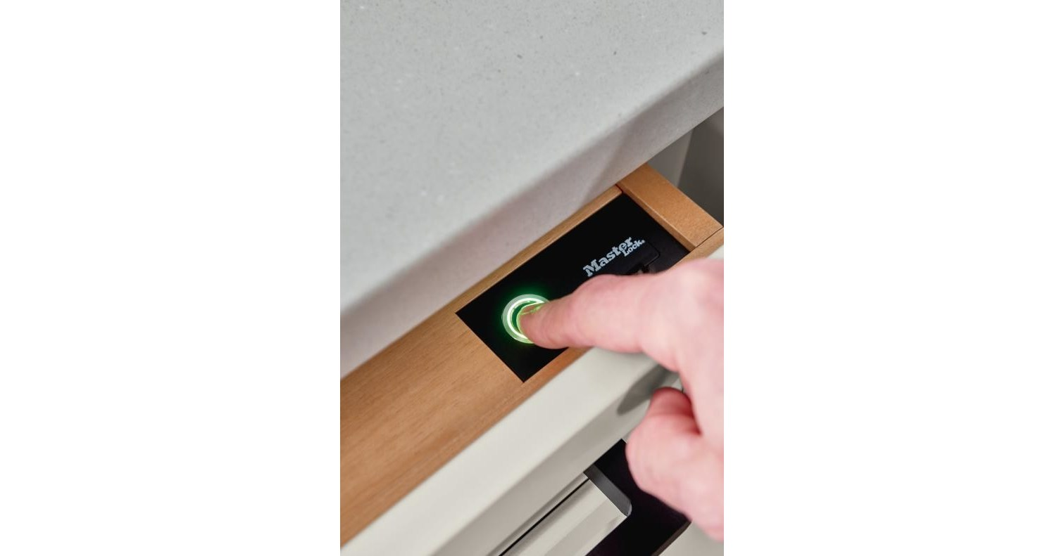 Biometric Secured Drawer From Diamond Cabinets Keeps Items Safe With