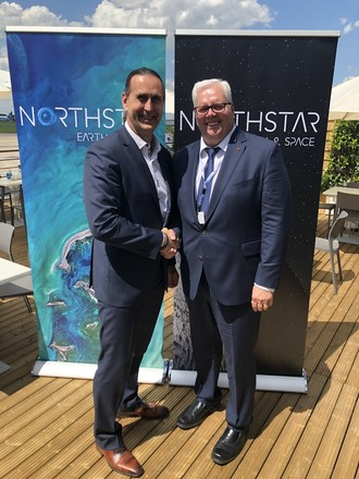 NorthStar Earth and Space CEO, Stewart Bain and CCC President and CEO, Martin Zablocki at the Paris Air Show (CNW Group/NorthStar Earth & Space Inc.)