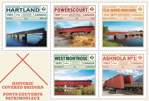 Ponts couverts au Canada. (Groupe CNW/Postes Canada)